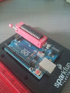 Arduino Uno avec support ZIF 28