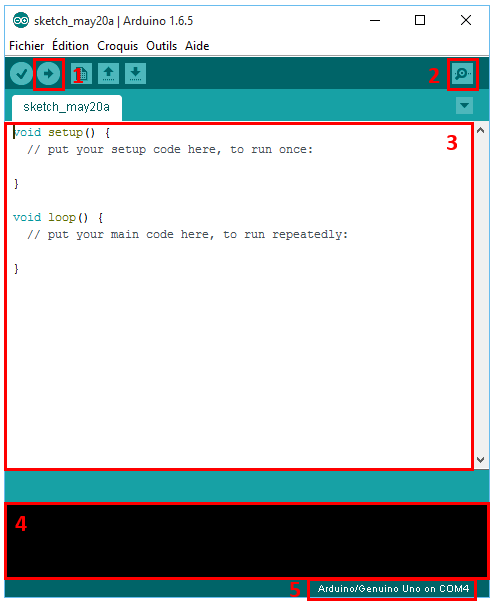 IDE Arduino explicatif