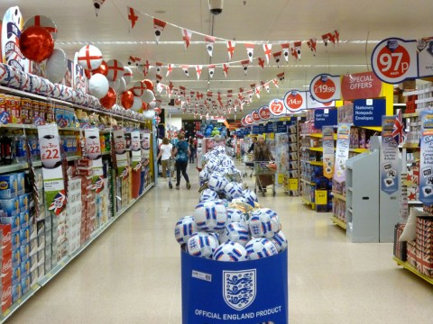 Tesco really loves football. Look at all the things Euro 2012 realted you can buy