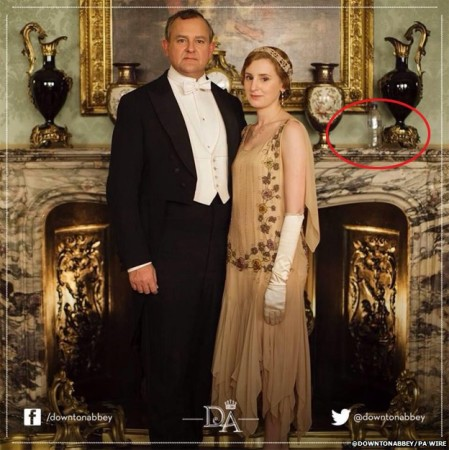 The Ermine knows the meaning of the plastic bottle on the Downton promo shot