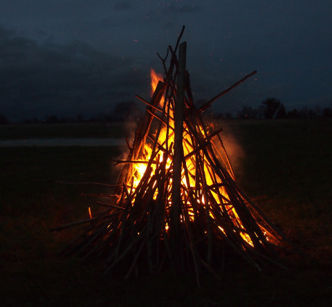 our Winter Solstice bonfire