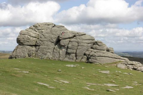 a fine rock and worthy fo a moderate scramble to get up to