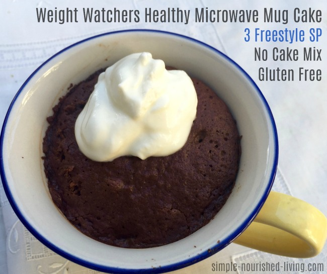 ww healthy microwave mug chocolate cake recipe