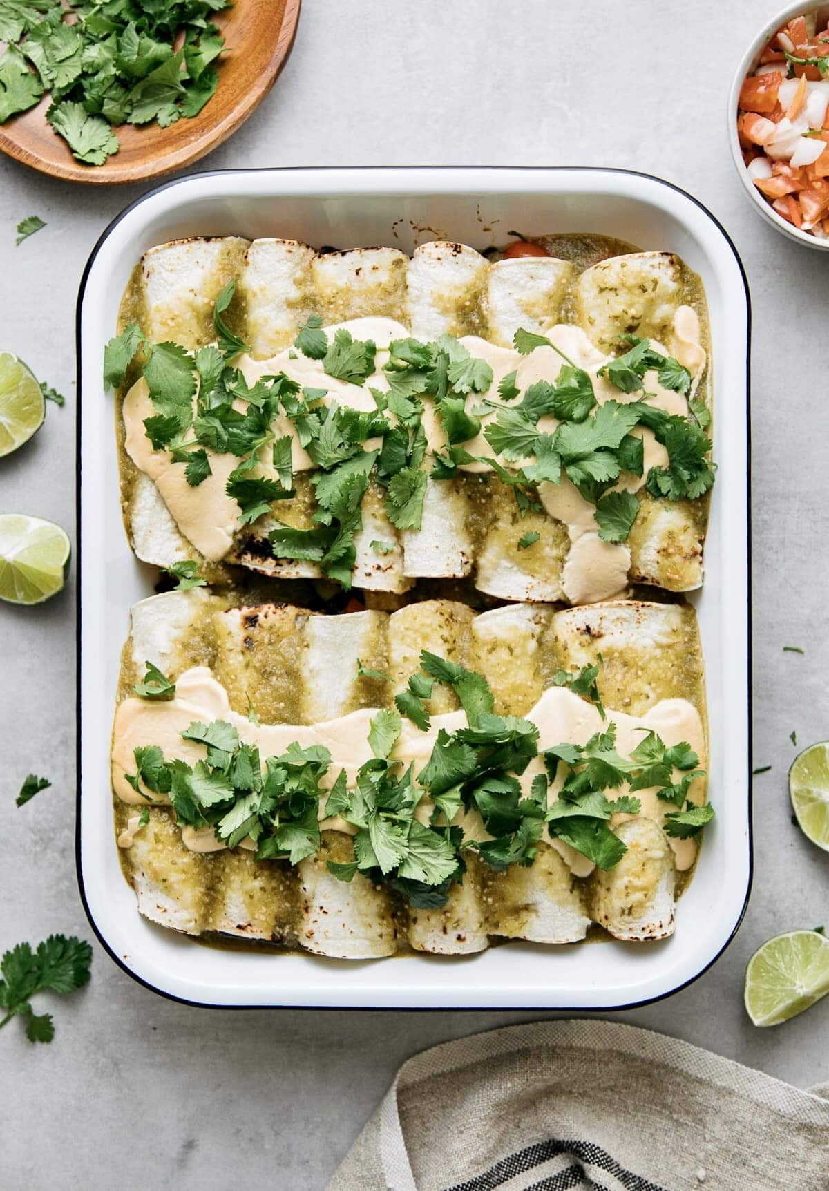 Vegan Enchiladas Verde The Simple Veganista