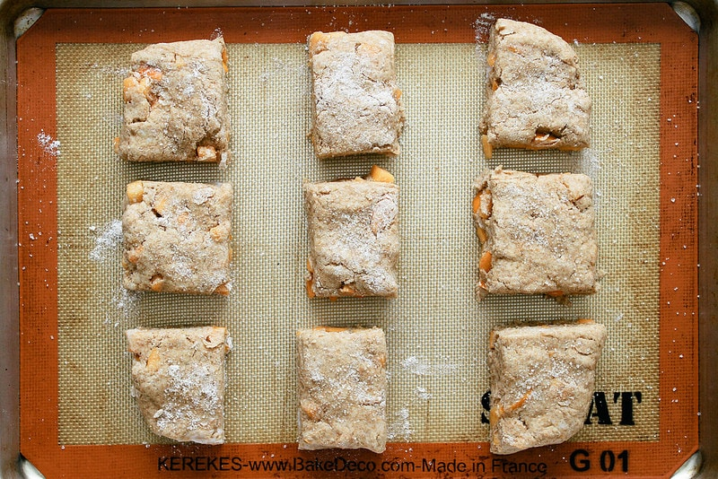 PERSIMMON RICOTTA SCONES: ready to bake