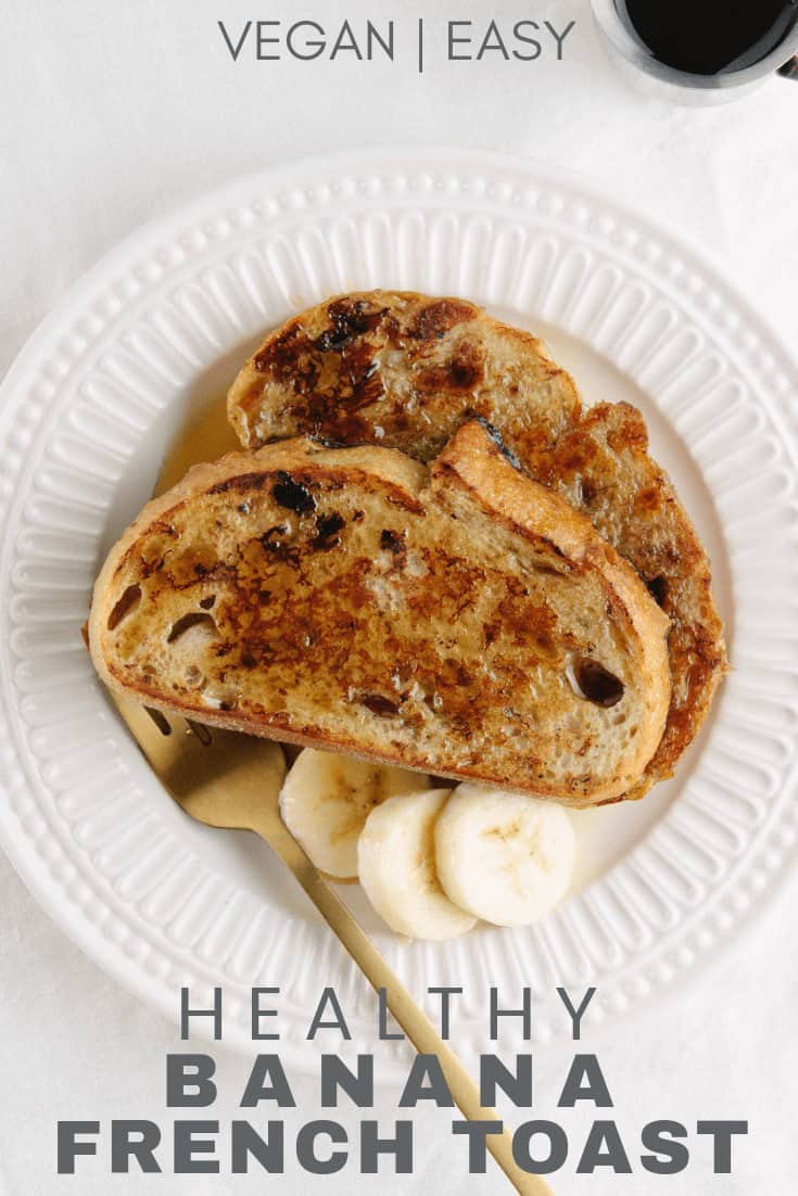 healthy banana french toast