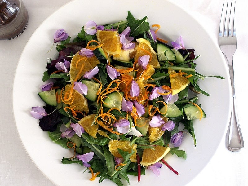 Spring Salad: Edible Flowers & Dandelions (3)