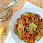 Carrot + Zucchini Ribbons + Cilantro Pepita Pesto