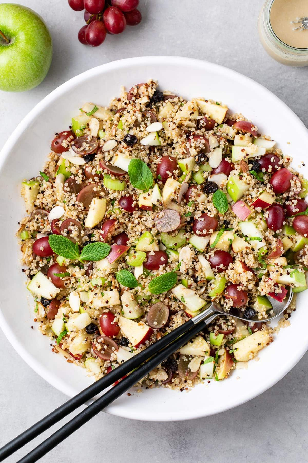 Apple Quinoa Salad Tahini Maple Dressing The Simple Veganista