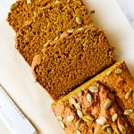 healthy vegan pumpkin bread sliced