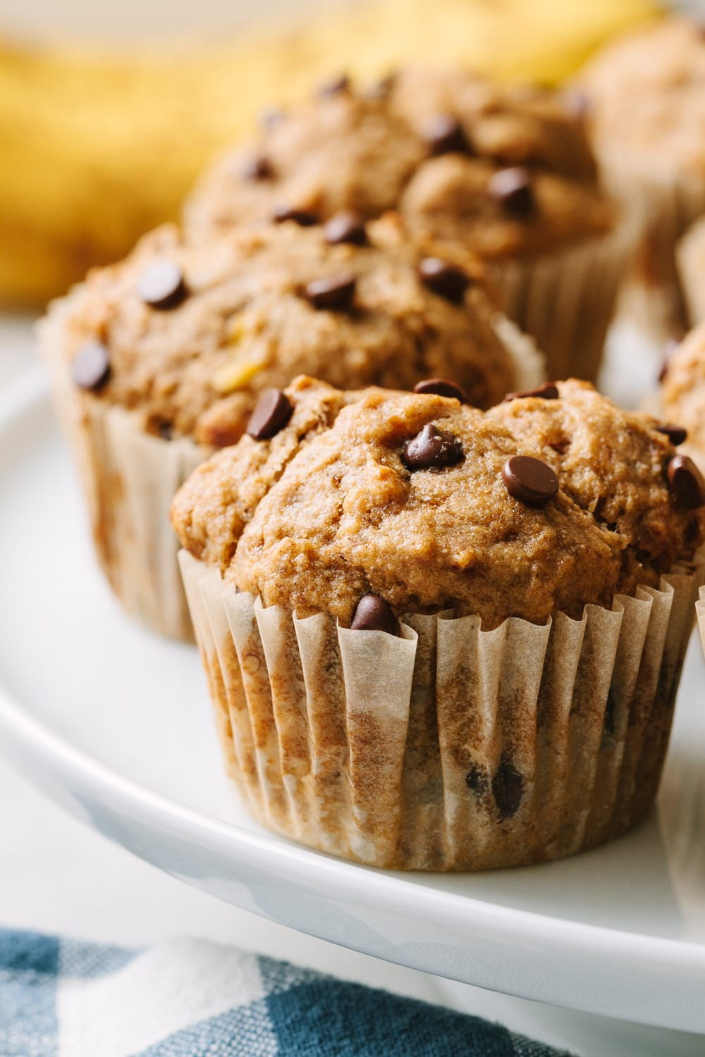 Healthy Banana Chocolate Chip Muffins Vegan The Simple Veganista