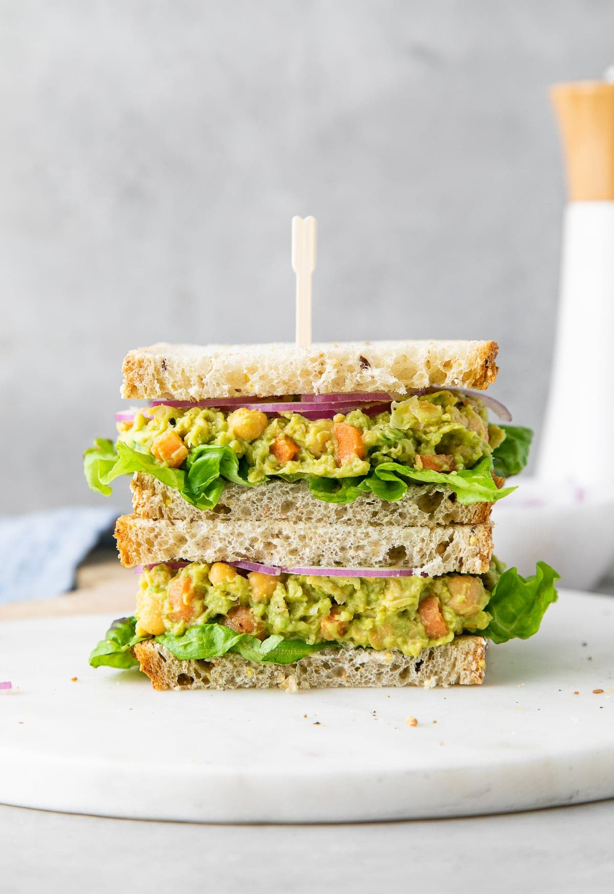 Chickpea Avocado Salad Sandwich Healthy Easy The Simple Veganista