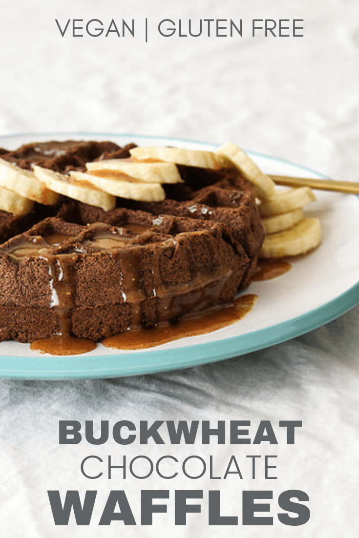 vegan buckwheat chocolate waffles