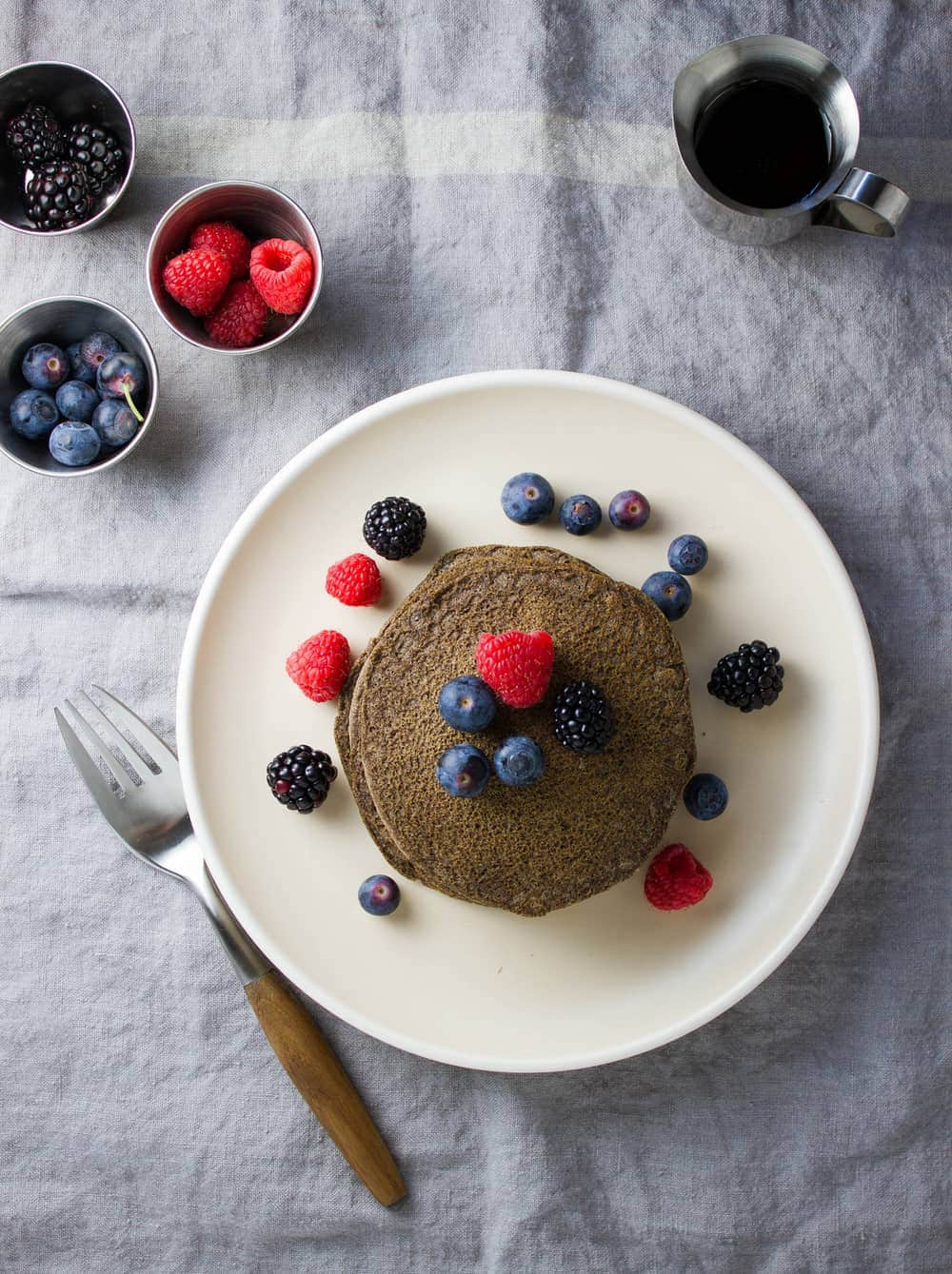 BUTTERMILK BUCKWHEAT PANCAKES