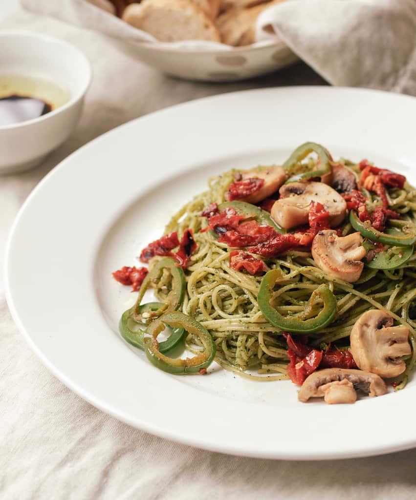 Basil-Walnut-Pesto-Mushroom-jalapeno-Sun-Dried-Tomato