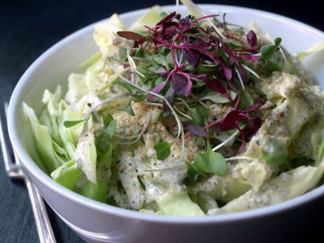 Cabbage-Salad-Creamy-Dressing-Almond-Parmesan