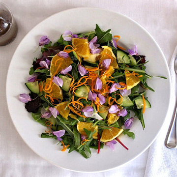 Spring-Salad-Edible-Flowers-Dandelion-Greens