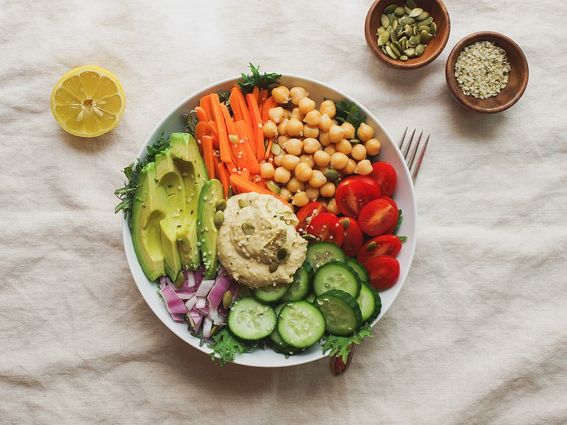 Everyday Nourish Bowl made with nutrient dense ingredients in a white bowl