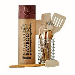 bamboo + silicone baking tools