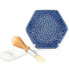 ceramic garlic grate plate