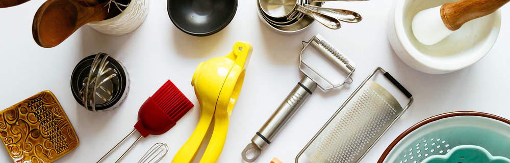 an assortment of kitchen utensils