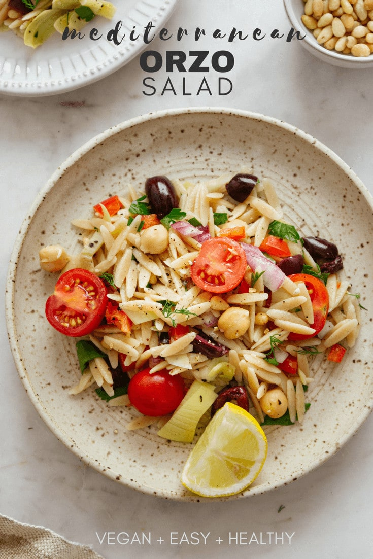 healthy mediterranean orzo salad recipe