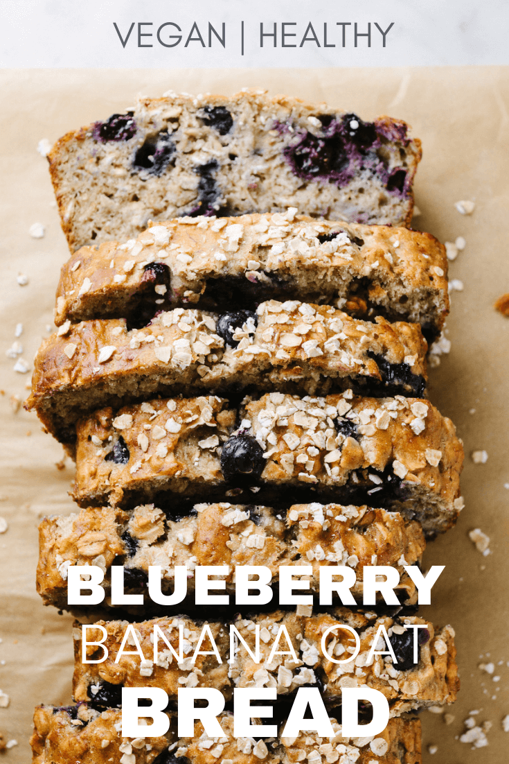 healthy vegan blueberry banana oat bread