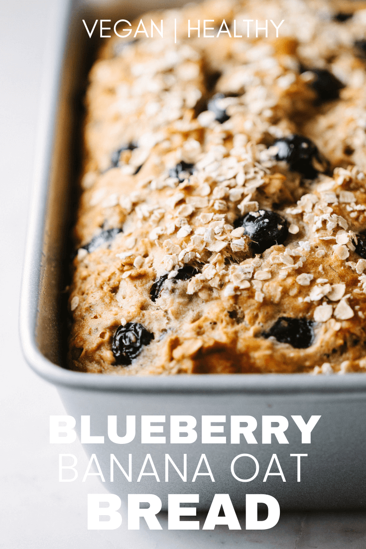 favorite blueberry banana oat bread