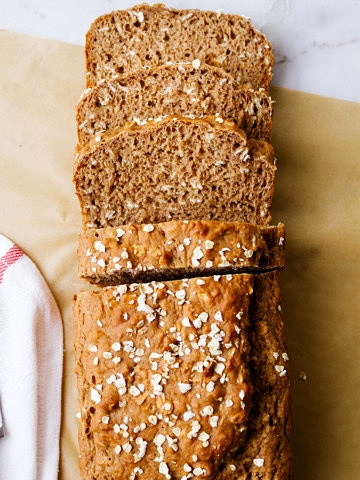 healthy, vegan, oil free applesauce bread sliced