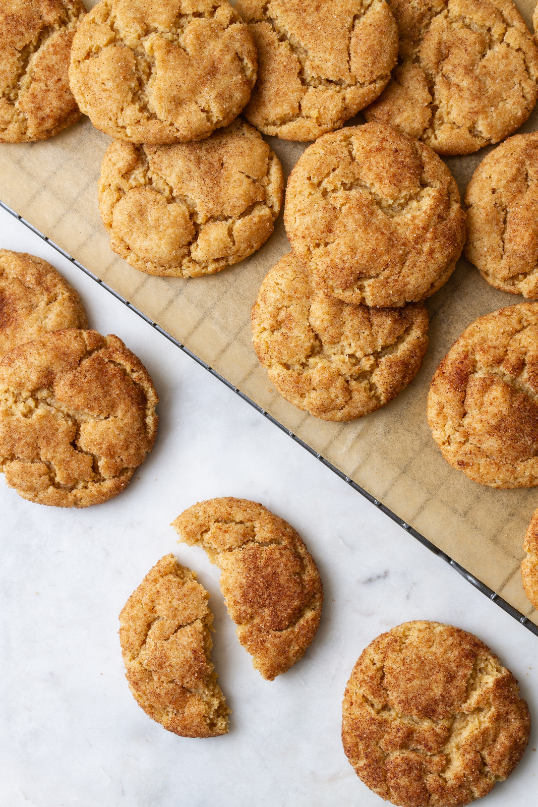 best vegan snickerdoodles on a cooling rack