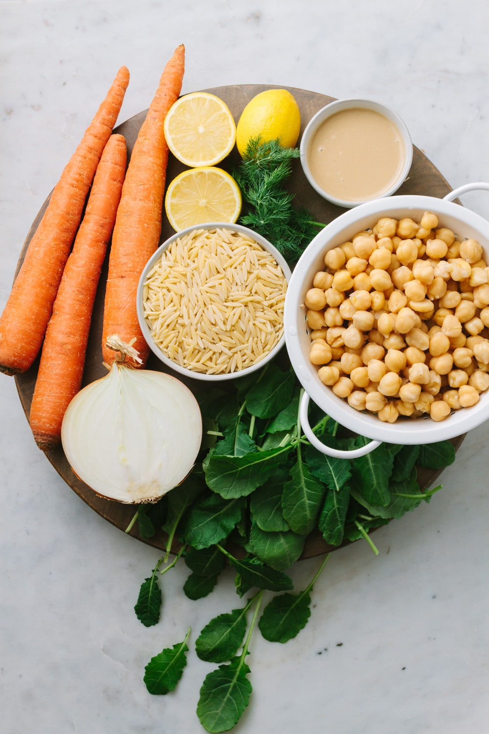 lemon chickpea orzo soup ingredients