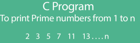 C Program to print prime numbers from 1 to n