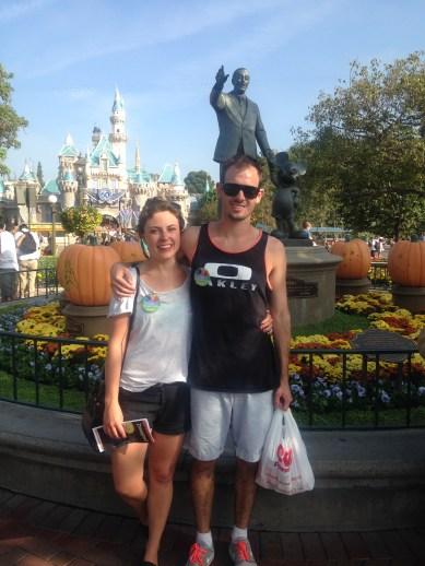 Honeymoon stop in Disneyland
