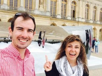 Exploring gardens of Versailles