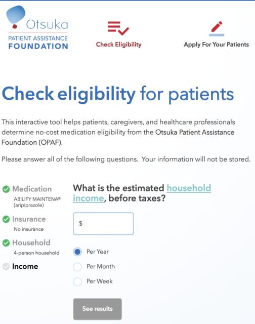 Otsuka check availability