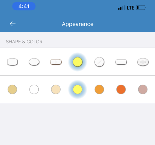 Medisafe-Appearance (Shape and Color)