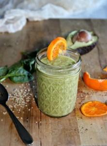 Orange mango smoothie simple and savory.com
