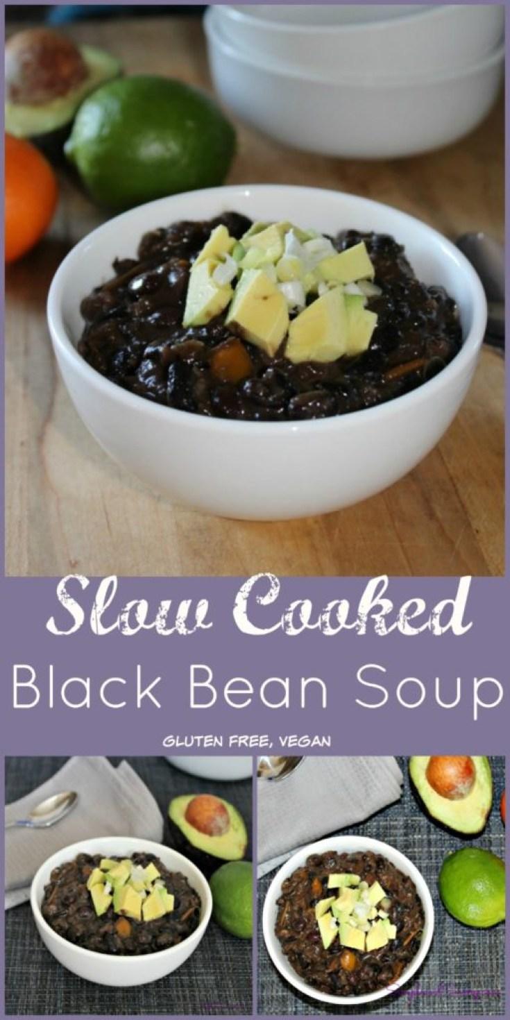 Slow Cooked Black Bean Soup Recipe GLuten Free, Vegan SimpleandSavory.com