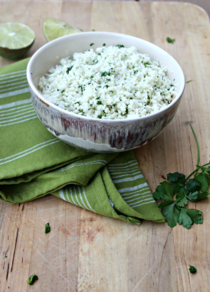 Cilantro Lime Cauli rice Simple and Savory.com