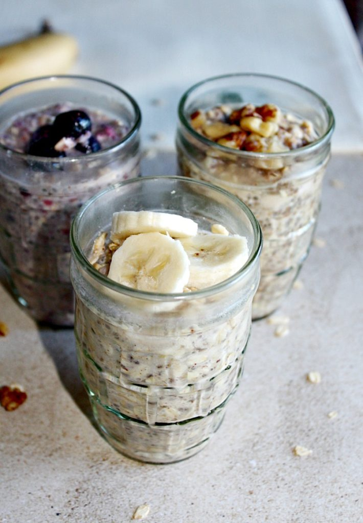 Overnight oats 3 ways Simpleandsavory