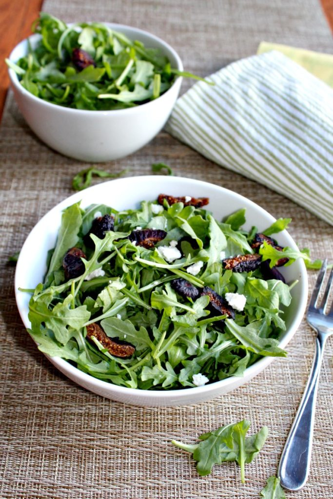 Arugula and Fig Salad with Balsamic Vinaigrette
