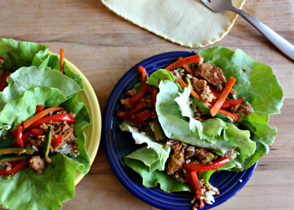 Asian chicken lettuce wraps gluten free
