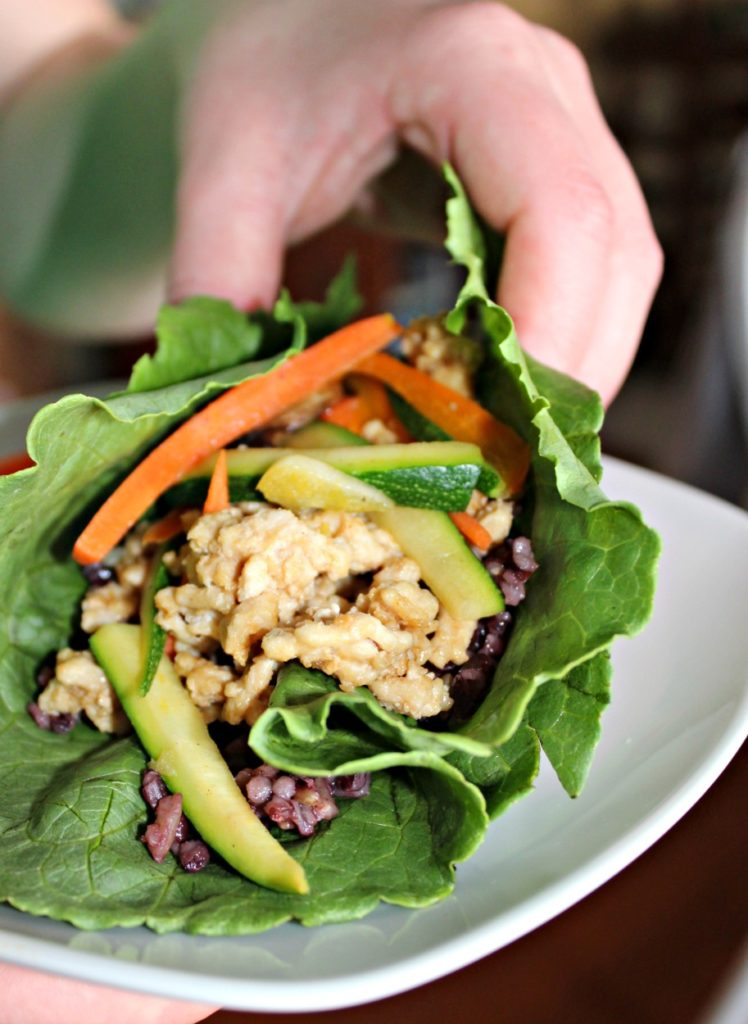 CHicken asian lettuce wraps