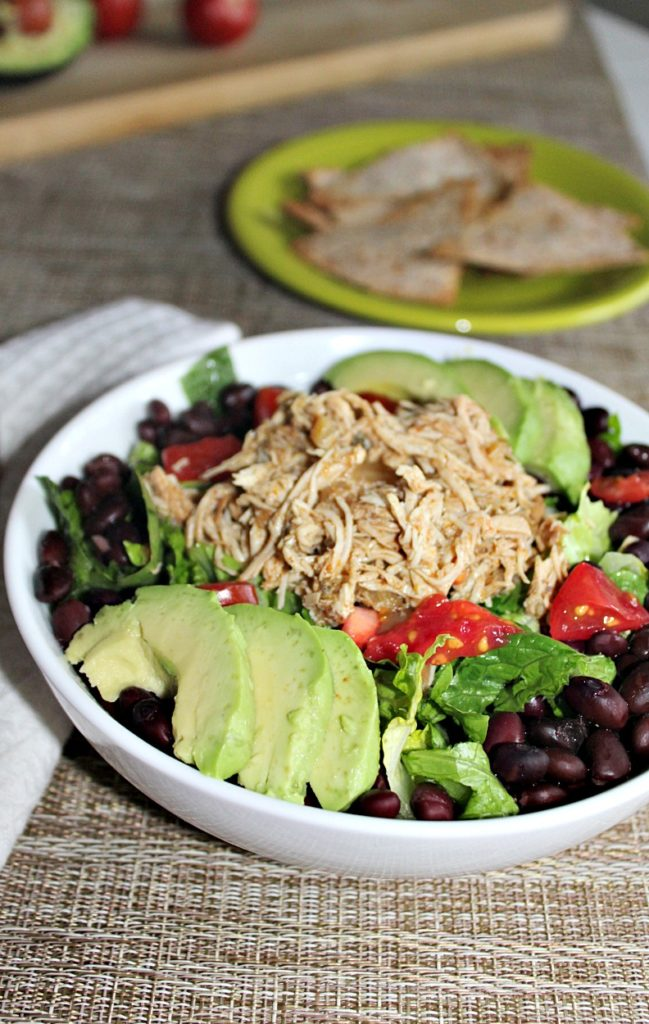 Slow Cooked Chicken Carnitas Salad Simple and Savory