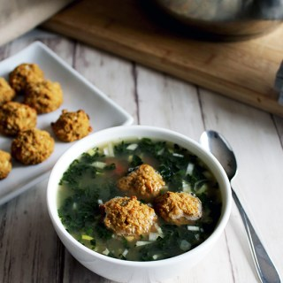 Tuscan  Vegetable Soup With White Beanballs