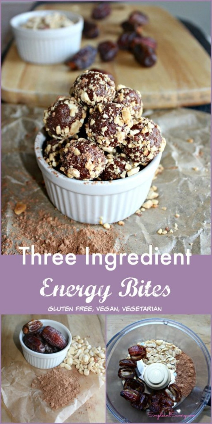 three ingredient energy bites gluten free simpleandsavory.com