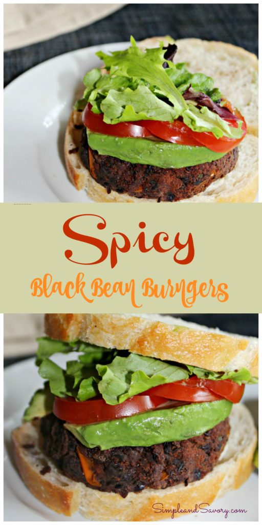 Spicy Black Bean Burgers SundaySupper Simple and Savory. Spice is Nice for SundaySupper