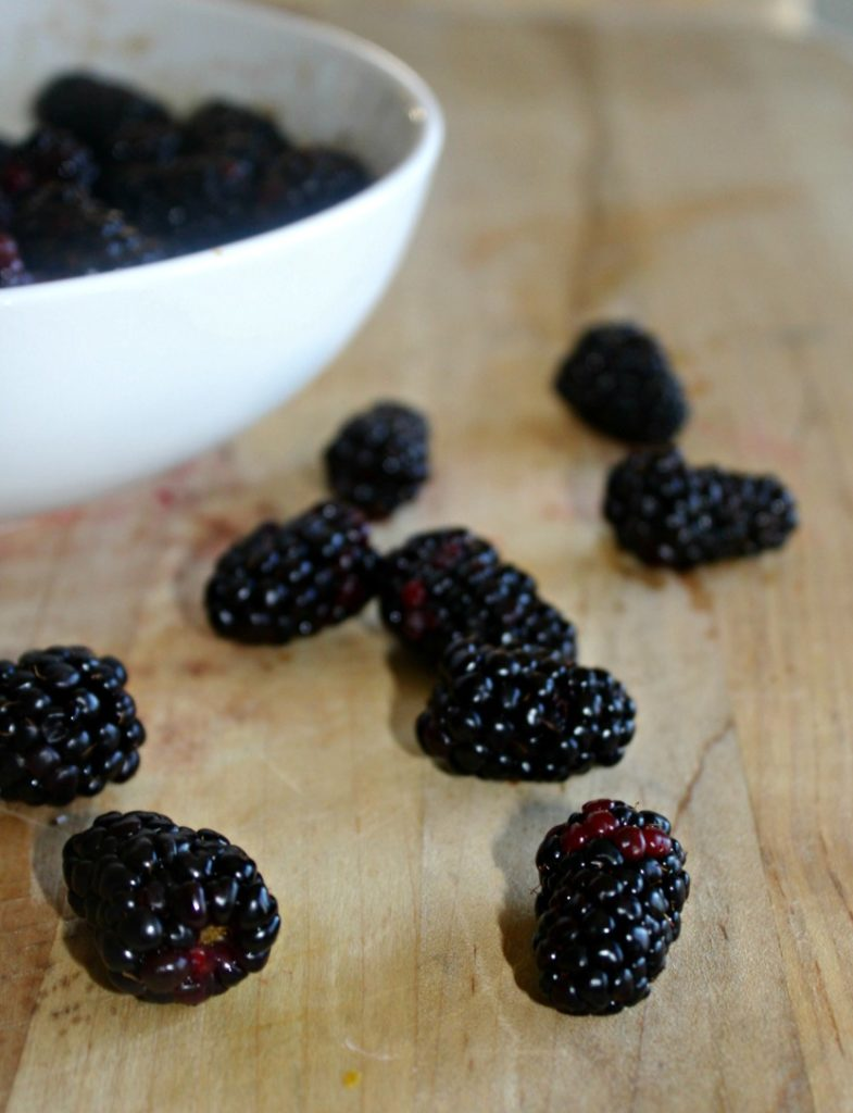 Blackberries for black berry ice cream Simple and Savory.com