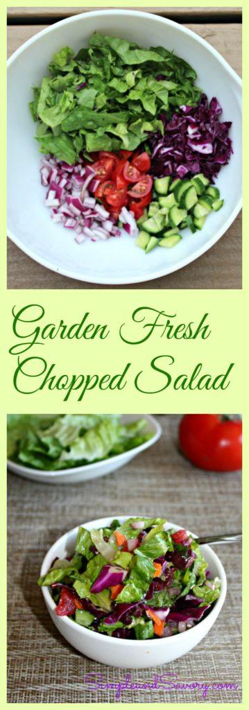 Garden Fresh Chopped Salad simpleandsavory.com