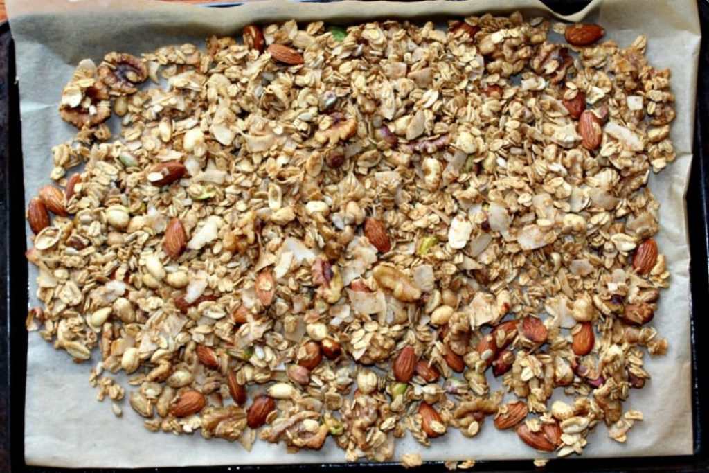 Savory Granola with spices and nuts Simple and savory.com